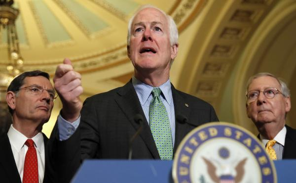 Senate Majority Whip John Cornyn of Texas pulled himself out of contention for FBI director Tuesday.