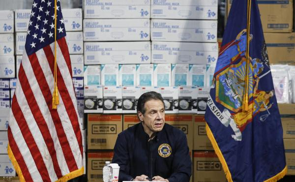 """We haven't flattened the curve, and the curve is actually increasing,"" New York Gov. Andrew Cuomo said of new coronavirus cases Tuesday. Cuomo said his state now has more than 25,000 cases, as he gave an update on the COVID-19 outbreak at a news conferen"