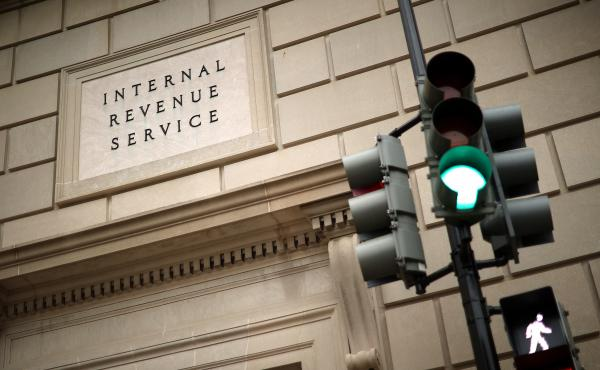 The Internal Revenue Service headquarters was photographed on April 27, 2020 in the Federal Triangle section of Washington, DC.