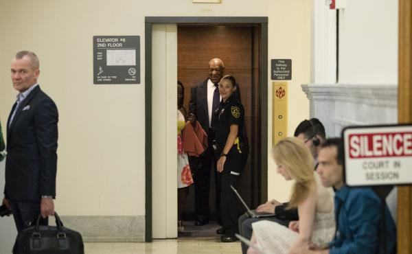 Bill Cosby — at the Montgomery County Courthouse in Norristown, Pa., on Tuesday — has been charged with multiple felony counts of aggravated indecent assault over a 2004 incident.