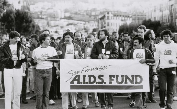 A march in the Castro area of San Francisco in 1983 was one example of activism that emerged at that time to push for a more coordinated federal response, more funding and better medicine in light of the AIDS epidemic.