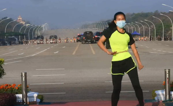 Khing Hnin Wai's video of herself dancing while seemingly unaware of Myanmar's military coup unfolding in the background has gone viral since Monday.