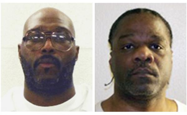 Death row inmates Stacey Johnson (left) and Ledell Lee are both scheduled to be put to death Thursday, though court rulings have put those executions on hold for now.