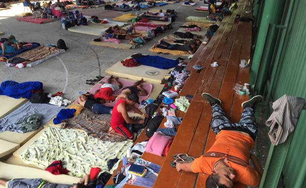 More than 500 Cuban immigrants hoping to reach the United States live at this school-turned-shelter in northern Costa Rica after Nicaragua, a Cuban ally, closed its border to them.