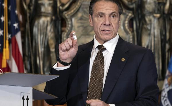 """Gov. Andrew Cuomo is urging New Yorkers to get the COVID-19 vaccine when it becomes available to them. """"This is not only an individual responsibility; it is a community obligation,"""" he said."""