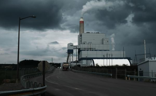 The Longview Power Plant, a coal-fired plant, in Maidsville, W.Va. The state's Democratic Sen. Joe Manchin is a key negotiator on President Biden's domestic agenda and a skeptic of the central provision to limit greenhouse gas emissions.