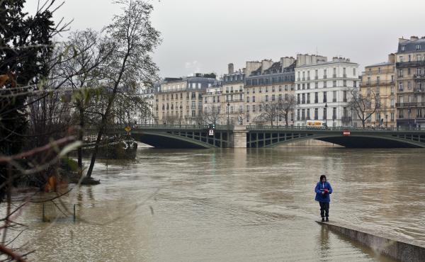 The river Seine in Paris had already overrun its banks by Saturday, and fears remain that it could creep across more of the city.