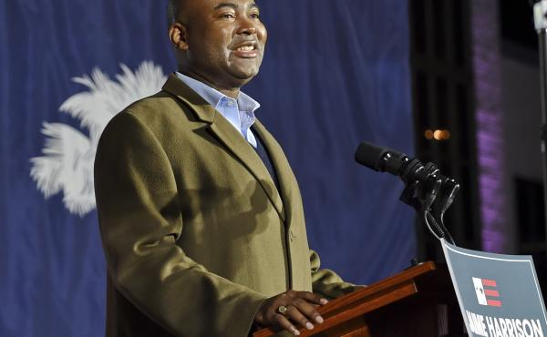 Jaime Harrison, the new chairman of the Democratic National Committee, says Democratic victories in Georgia are signs that come 2022, his party can break the cycle of the incumbent president's party losing ground during midterm elections.