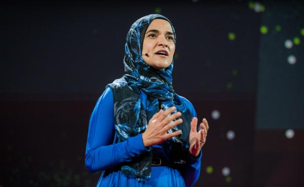 Dalia Mogahed speaks at TED2016 in Vancouver, Canada.