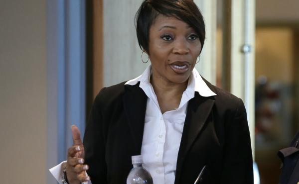 Dallas Police Chief U. Reneé Hall resigned Tuesday after criticism of her department's handling of recent protests in the city. Hall is seen here at police headquarters in Dallas in 2017.