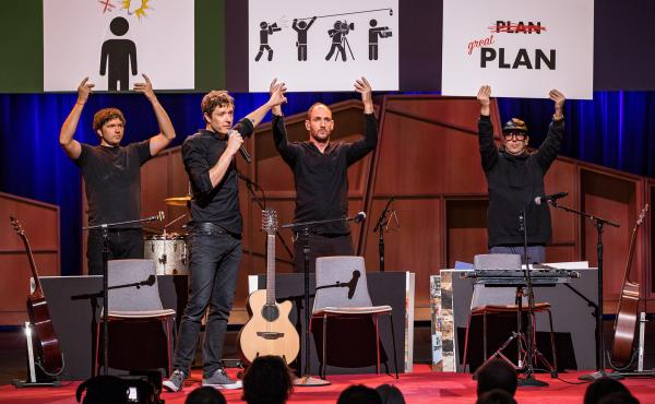 Ok Go on the TED Stage