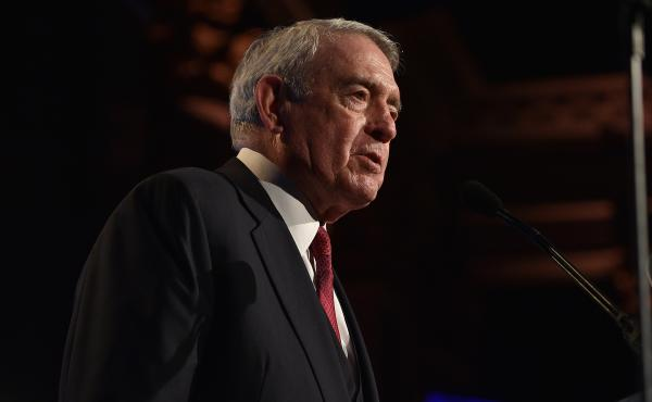 Dan Rather speaks at the Gotham Independent Film Awards in 2015. His new collection of essays is called What Unites Us.