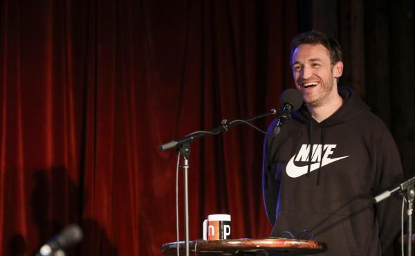 Dan Soder appears on Ask Me Another at the Bell House in Brooklyn, New York.