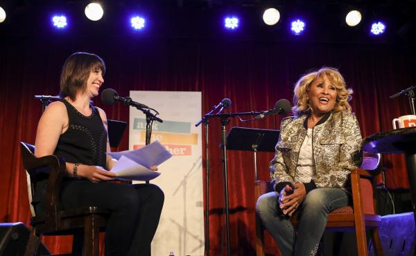 Darlene Love chats with Ask Me Another host Ophira Eisenberg at the Bell House in Brooklyn, New York.