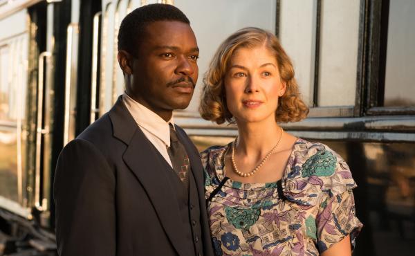 David Oyelowo and Rosamund Pike play real-life couple Seretse and Ruth Khama in A United Kingdom.