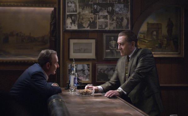 Joe Pesci and Robert De Niro play friends — and mobsters — in The Irishman.