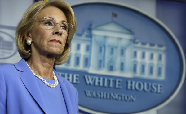 U.S. Education Secretary Betsy DeVos backed a rule that would have increased private schools' share of CARES Act dollars from $127 million to $1.5 billion, according to one analysis.