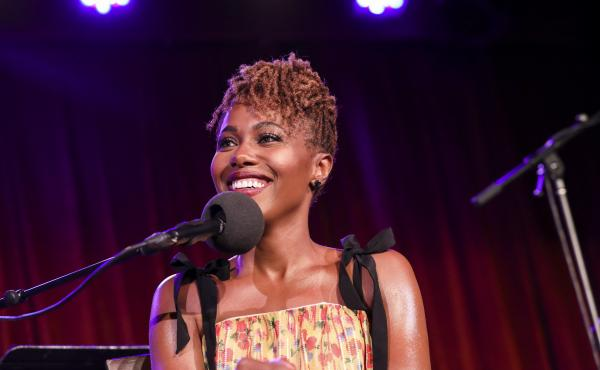 DeWanda Wise appears on Ask Me Another at the Bell House in Brooklyn, New York.