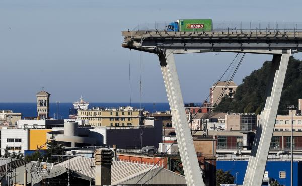 On Wednesday, officials warned that other parts of the collapsed Ponte Morandi Bridge in Genoa, Italy, could give way.