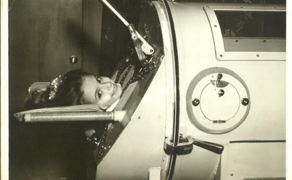 Martha Lillard needed a large respirator called an iron lung to recover from polio, which she caught in 1953. She still uses a form of the device at nights.