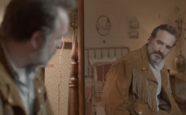 Georges (Jean Dujardin) goes beyond the fringe in Deerskin.