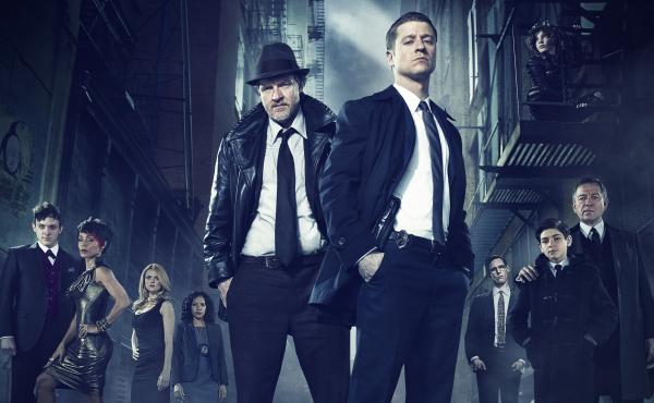 Ben McKenzie (front right) and Donal Logue (left) lead the cast of Fox's Batman prequel Gotham.