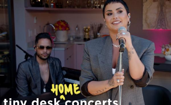 Demi Lovato performs a Tiny Desk (home) concert.