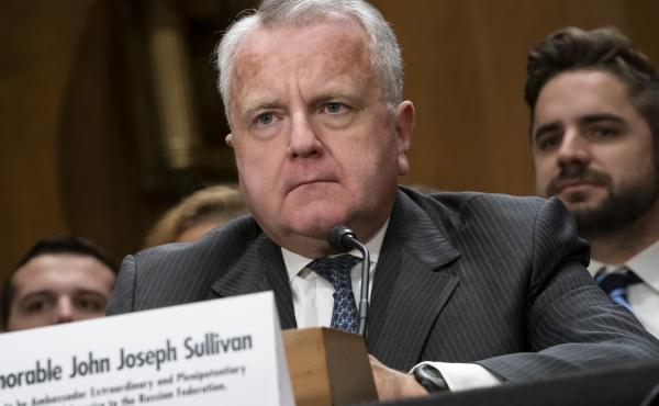 Deputy Secretary of State John Sullivan appears before the Senate Foreign Relations Committee on Wednesday for his confirmation hearing to be the new U.S. ambassador to Russia.