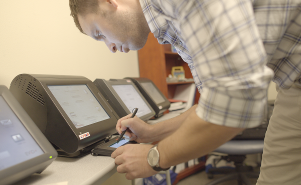 VR Systems provides voter registration software and hardware to elections offices in eight states.