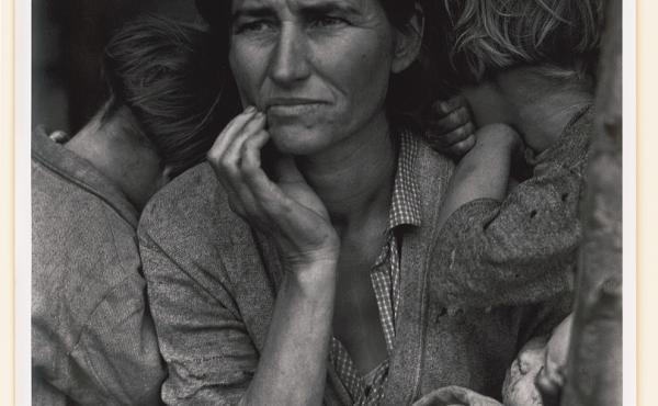 Destitute pea pickers in California