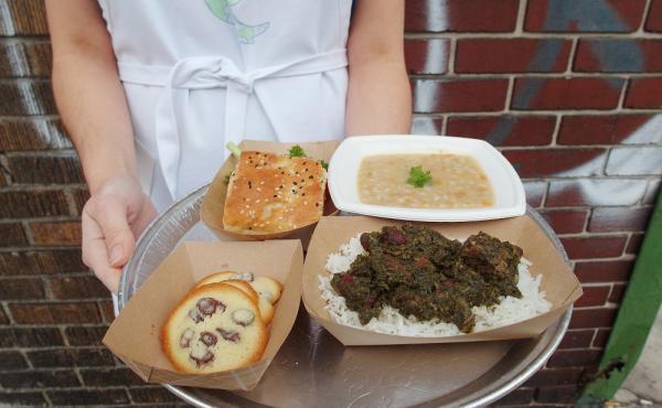 At Saturday's pop-up event in Detroit, Heshmati served an a la carte menu.