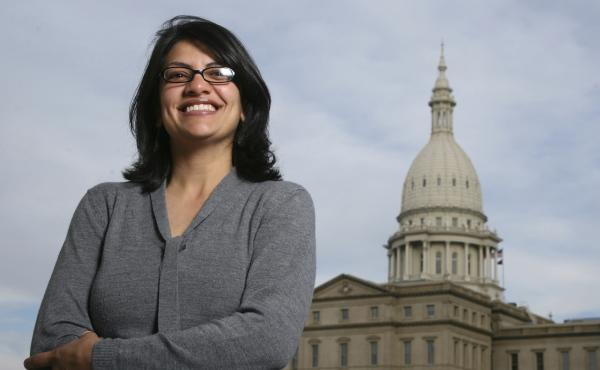 Rashida Tlaib (shown in 2008) served as a Michigan state legislator for six years. On Tuesday, Democrats picked her to run unopposed for the congressional seat held by former Rep. John Conyers for more than 50 years. Tlaib would be the first Muslim woman