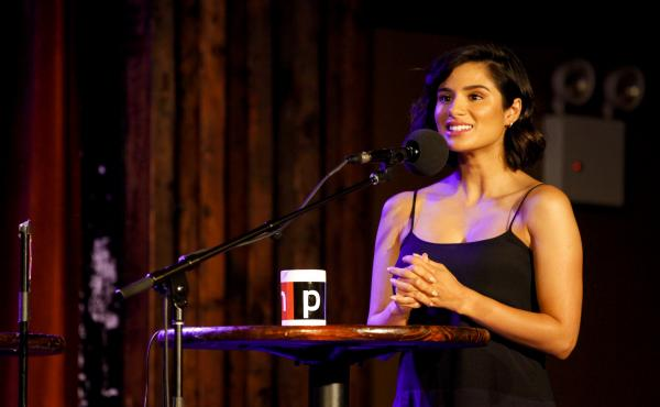 Diane Guerrero appears on Ask Me Another at the Bell House in Brooklyn, New York.