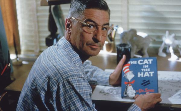 Dr. Seuss is seen here in his La Jolla, Calif., home in 1957.