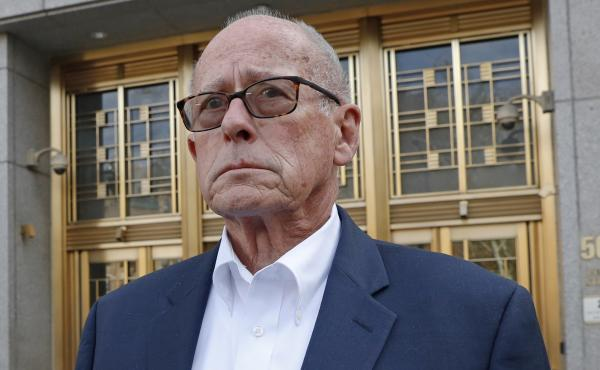 Former Rochester Drug Co-Operative CEO Laurence Doud III, facing criminal charges stemming from the opioid crisis, leaves the federal courthouse in Manhattan on Tuesday.