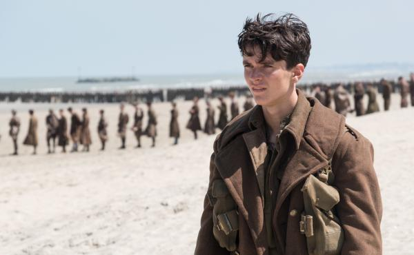 Fionn Whitehead plays Tommy, a British soldier awaiting evacuation, in Christopher Nolan's Dunkirk.