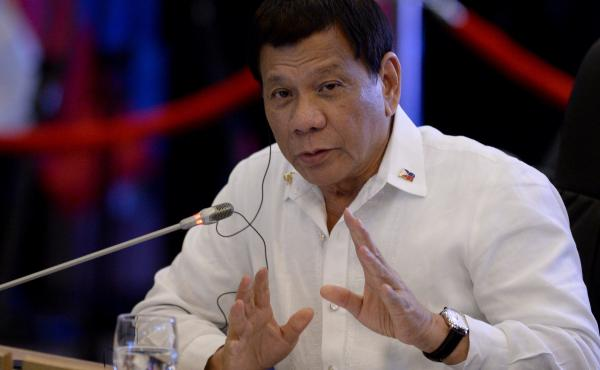 Philippine President Rodrigo Duterte delivers a statement in Manila in Nov. 2017. Duterte will withdraw the Philippines from the Rome Statute, the treaty that established the International Criminal Court (ICC), according to a statement released to reporte