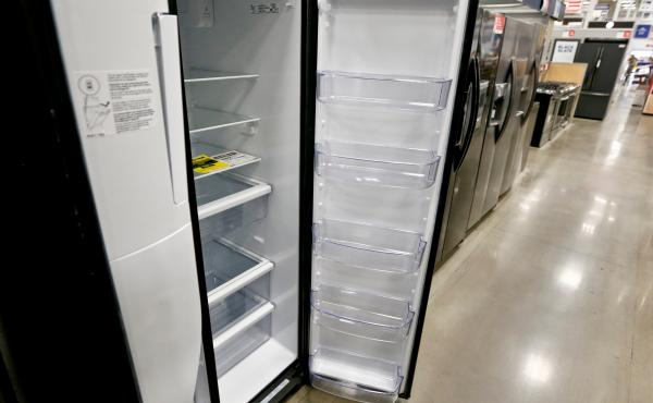 Refrigerators on sale in 2018 in Pennsylvania. The Environmental Protection Agency is planning to phase out the use of cooling chemicals that are powerful greenhouse gases.
