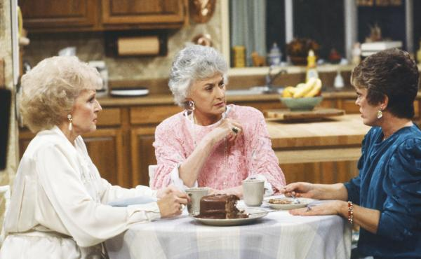 The Golden Girls: Betty White as Rose Nylund, Bea Arthur as Dorothy Petrillo Zbornak, and Rue McClanahan as Blanche Devereaux. Much of the memorabilia that McClanahan left behind — from the show and the rest of her career is on display at Rue La Rue Caf