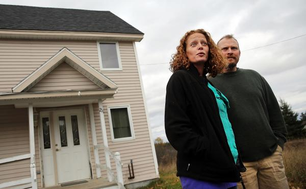 Last fall's state-ordered quarantine of nurse Kaci Hickox (shown here with her boyfriend, Theodore Michael Wilbur, in late October) started at the airport in Newark, N.J., then followed her home to Fort Kent, Maine. Hickox treated Ebola patients in Africa