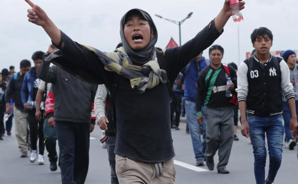 Indigenous anti-government protesters march Tuesday into Ecuador's capital, Quito, where days of popular upheaval have followed President Lenín Moreno's decision to scrap fuel price subsidies.