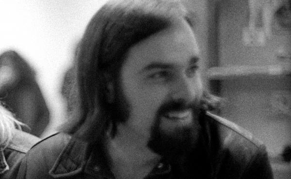 Ed Ward, photographed in the Rolling Stone office in December, 1970 in San Francisco.