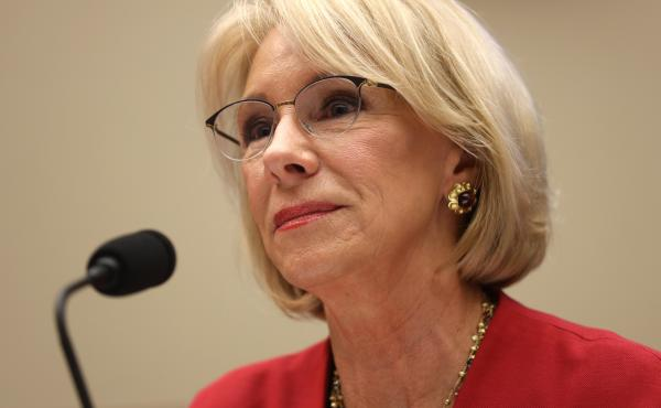 U.S. Secretary of Education Betsy DeVos also announced the Department of Education would refund about $1.8 billion to the more than 830,000 borrowers who were in the process of having money withheld.