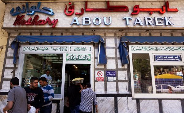 Koshary Abou Tarek, on Maarouf Street in downtown Cairo, is beloved by locals and foreigners alike.