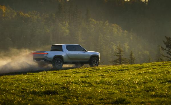 Sales begin in 2020 for Rivian's R1T pickup truck and a companion SUV. Both will be made in central Illinois.