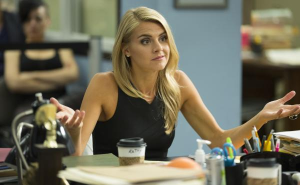 Eliza Coupe as Nina, in Benched.