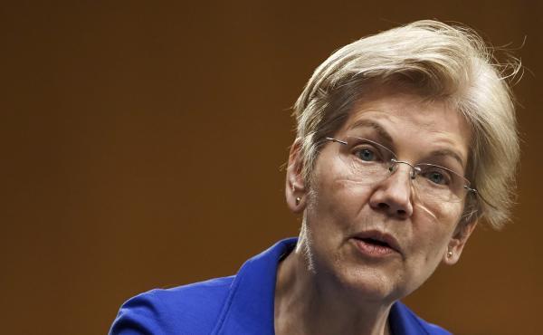 Sen. Elizabeth Warren speaks during a Senate Finance Committee hearing in Washington on Feb. 24. Warren's latest book is called Persist.