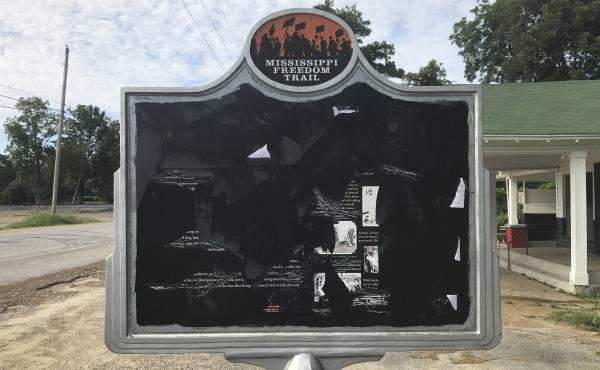 This marker in Money, Miss., remembering black teenager Emmett Till, who was kidnapped and killed in 1955, has been vandalized more than once, most recently this month.