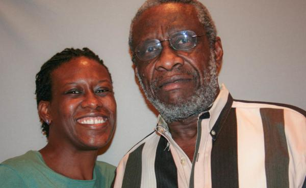 Olly Neal with his daughter, Karama, at their StoryCorps interview in Little Rock, Ark., in 2009.