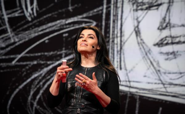Es Devlin speaks at TED2019: Bigger Than Us. April 15 - 19, 2019.